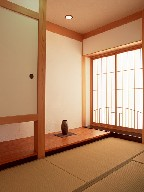 The Japanese-style room where there is a tatami, it is Japanese culture.